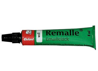 Remalle Emaillelack Paste weiss 8 ml Reparaturlack Emaille Reparatur Badewanne