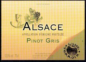 Tiquette de vin d 39 alsace pinot gris vendangeur 2 for La fenetre pinot noir 2010