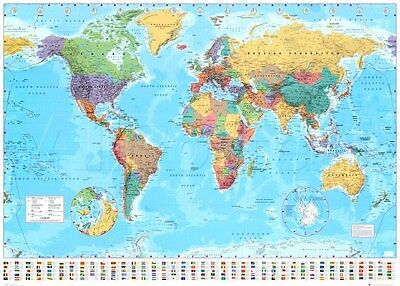 World Map 2015 Giant Poster Print, 55x39