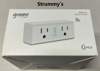 Gosund 2 pack smart plug 2 outlet per plug New!!