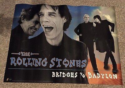 ROLLING STONES Promo Poster Original 1997 Bridges To Babylon Virgin 18x24,Mint