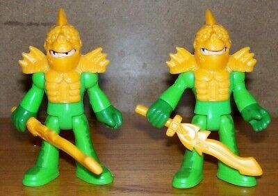 FISHER PRICE IMAGINEXT 2 TURTLE KNIGHTS with ARMOURS & SWORDS