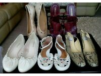 5 PAIRS OF LADIES SHOES SIZE 7 AND 8
