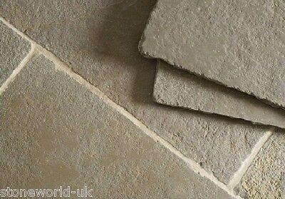 Sample of Tumbled Minster Limestone Floor Tiles Slabs Aged Flagstones