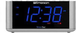 Emerson SmartSet Alarm Clock Radio, USB port for iPhone/iPad/iPod/Android and