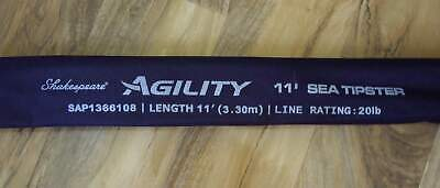 NEW SHAKESPEARE AGILITY SEA TIPSTER 11' 3 PIECE C.W. 1-4 oz.