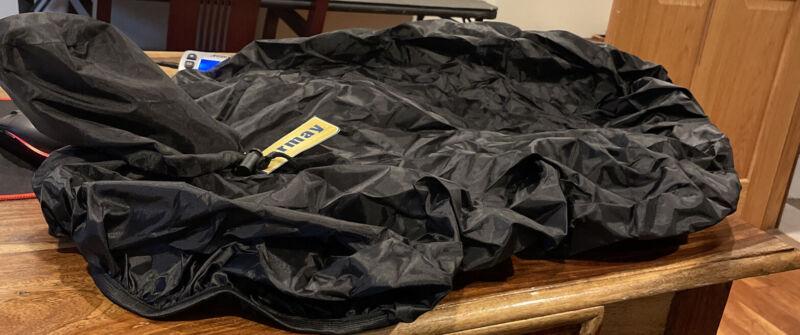 C-44BK Hilason Horse Tack Black Nylon Saddle Cover For Western Saddle
