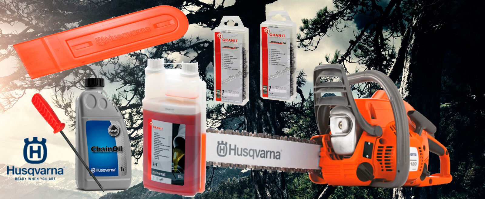 "Husqvarna 236 / 120 Mark II  Kettensäge/Motorsäge ""All in One"" aus 12/2018"