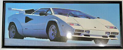 Vintage Lamborghini Countach Framed Poster Print Retro Sports Cars - Framed Sports Poster