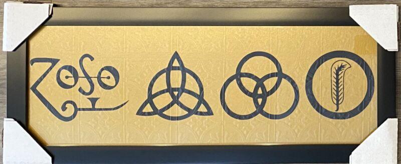 Led Zeppelin Logo Display Zoso Page Bonhan