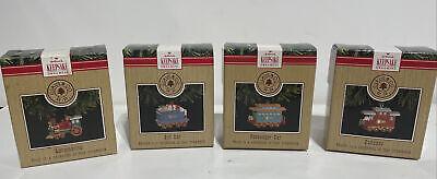 Vintg Hallmark Keepsake Ornaments 1991 CHRISTMAS TRAIN Set of 4 Claus & Co. R.R.