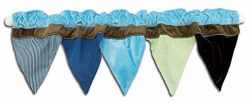 New NoJo  AHOY MATE  Window Nursery Valance ~ Pendant Flags Pirate Blue Brown