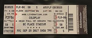 Cold Play ticket