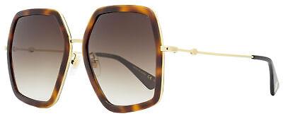 Gucci Square Sunglasses GG0106S 002 Gold/Havana 56mm 0106