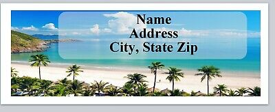 30 Personalized Return Address Labels Scenic Beach Buy 3 Get 1 Free C 782