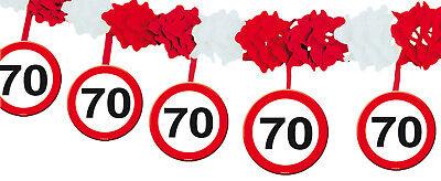 (€1,5/m) Girlande Hängegirlande zum 70.Geburtstag 70sten Party Deko Dekoration