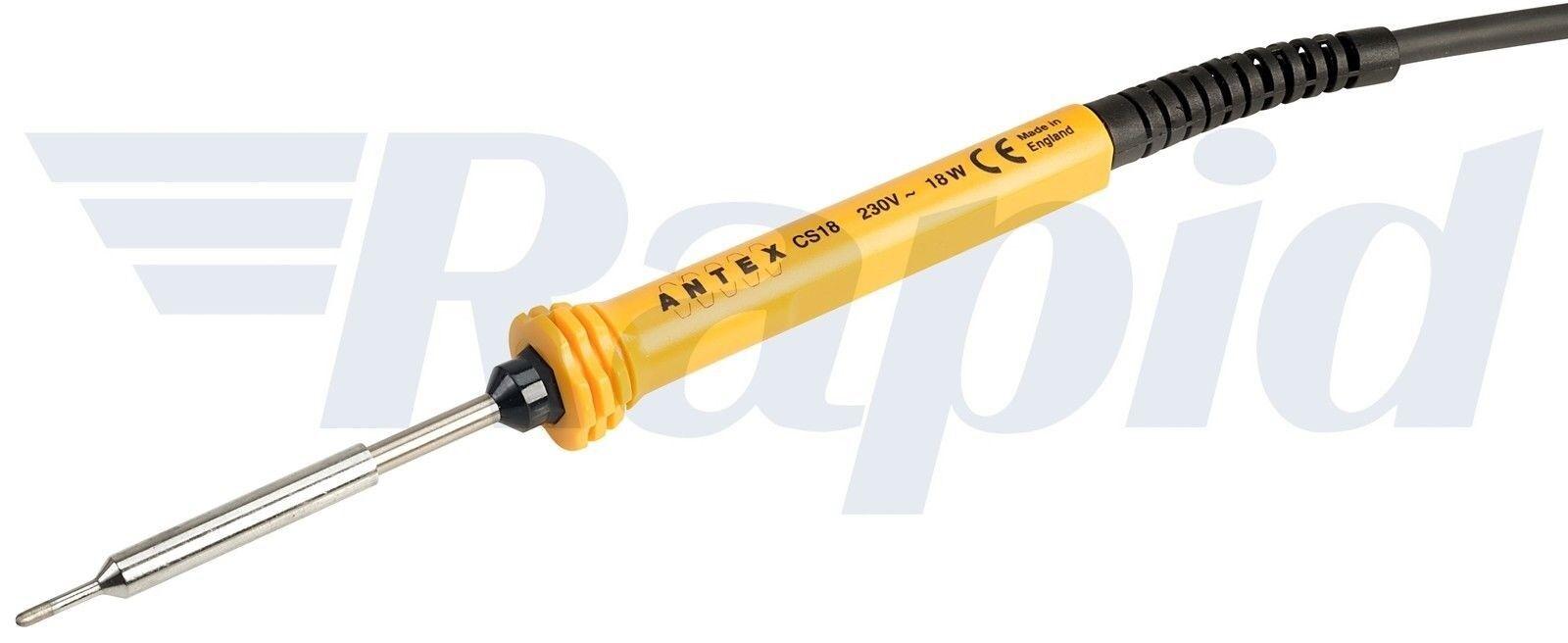 Yellow Antex S58J470 XS25 230V Silicone BP Soldering Iron