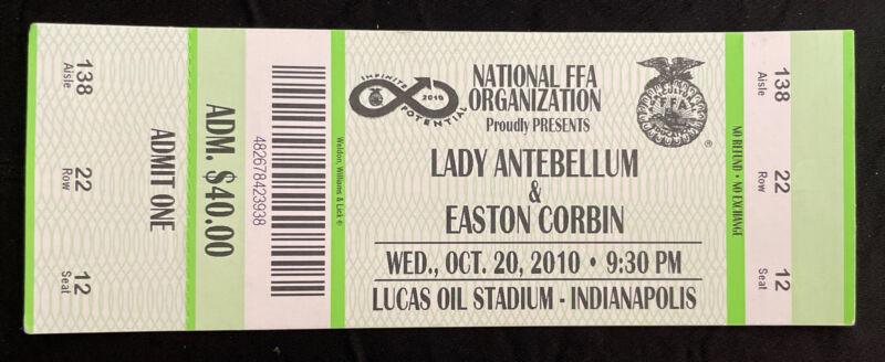Lady Antebellum National FFA Concert Ticket Stub October 2010 Indianapolis