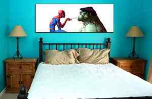 SPIDER-MAN-VS-HULK-collectible-poster-wall-art-marvel-comics-x-men-avengers
