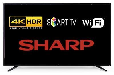"""Sharp 4T-C40BJ2KE2FB 40"""" Smart LED TV Aquos Net+ Ultra HD 4K HDR WiFi HDMI"""
