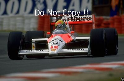 Ayrton Senna McLaren MP4/4 Winner Belgian Grand Prix 1988 Photograph 4
