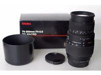 Sigma 70-300mm f4-5.6 Macro DG Lens For Pentax Digital & Film SLR Cameras
