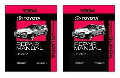 1994 Toyota Supra Shop Service Repair Manual Book Engine Drivetrain OEM