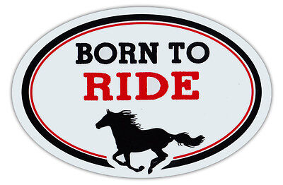Oval Shaped Car Magnet - Born To Ride - Horse Lover's - Cars, Refrigerators