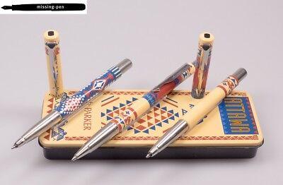 Old Parker Vector 3er Metal Box ATTAWA (2 x Rollerball & Ballpoint Pen)