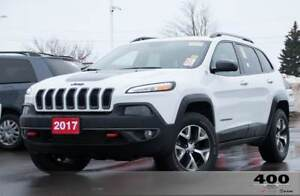 2017 Jeep Cherokee Trailhawk **PANOROOF**LEATHER**HEATEDSEATS**8