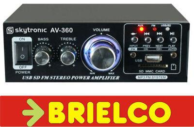 AMPLIFICADOR STEREO 2X40W MAX KARAOKE 220V 12V USB SD CARD FM CON...
