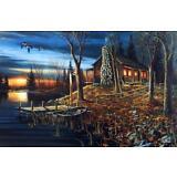 Jim Hansel Complete Serenity Cabin Lake Art Print 29 x 19