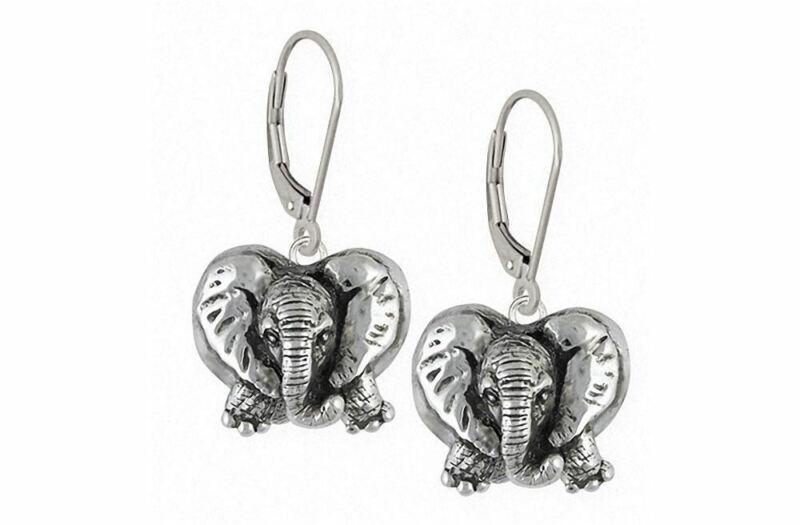 Elephant Jewelry Sterling Silver Elephant Earrings Handmade Wildlife Jewelry EL8