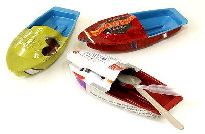 �� 3 x Pop Pop Boot mit Kerze Dampfboot Knatterboot Kerzenboot Blechspielzeug