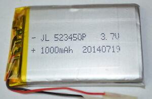 LiPo Akku # 1000 mAh 3,7 V # Lithium Polymer Akku, Arduino # Mit Schutzschaltung