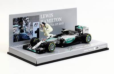 Minichamps Mercedes AMG Petronas F1 2015 Lewis Hamilton USA GP Winner 1:43 Scale