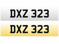 DXZ 323 - Cherished Personal Registration Number Plate - £375 Including all DVLA Transfer Fee