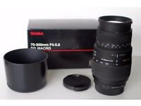 Sigma 70-300mm f4-5.6 Macro DG Lens For Pentax