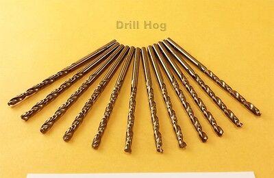 """Drill Hog USA 3/16"""" Cobalt Drill Bits M42 Drill Bit 12 Pack Lifetime Warranty"""