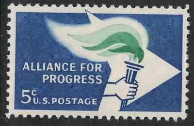 Scott 1234- Alliance for Progress, Flame & Torch- 5c MNH 1963- unused mint stamp for sale  Shipping to India