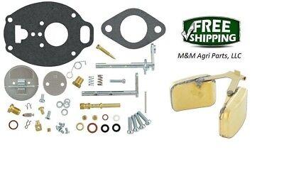Complete Carburetor Kit Float Ih Farmall 444 454 464 574 674 2400 2500 3400
