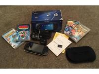 PSP with 4 games & 4GB memory card