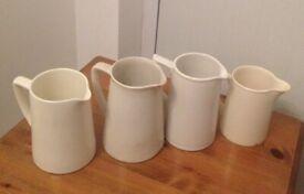 Small vintage ivory colour jugs