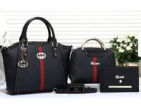 3 piece black bag set