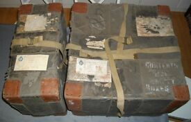 Military Trunks owned by Destroyer Captain with Distinction The 9th Earl of Roden R.N. World War 2