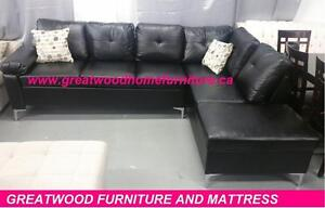 MODERN STYLE SECTIONAL SOFA WITH METAL LEGS...$599