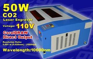 "110v 19.7""x15.8"" CO2 Laser Engraving Cutting Machine Engraver 50W Laser Tube 130059"