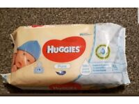 20 packs of huggies pure water wipes. (1120 wipes alltogether)