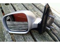 2001 VW Polo 6n2 passengers side electric door mirror in silver