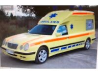LEFT HAND DRIVE MERCEDES E-CLASS AMBULANCE / HEAS, 2001 with all equipment